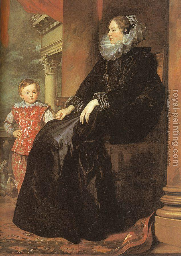 Anthony Van Dyck : A Genoese Noblewoman and Her Son