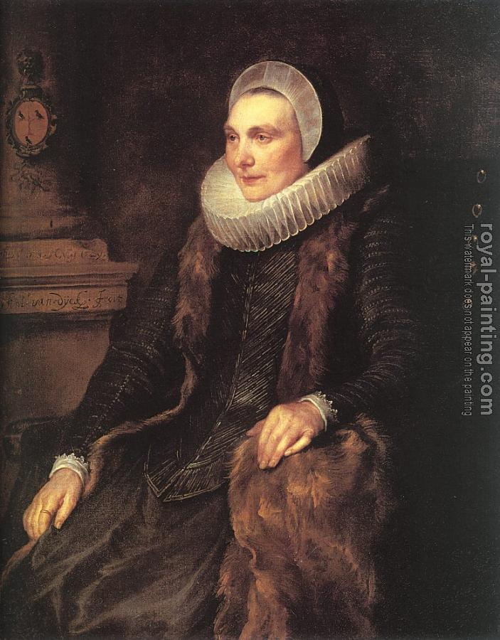 Anthony Van Dyck : Maria Bosschaerts, Wife of Adriaen Stevens