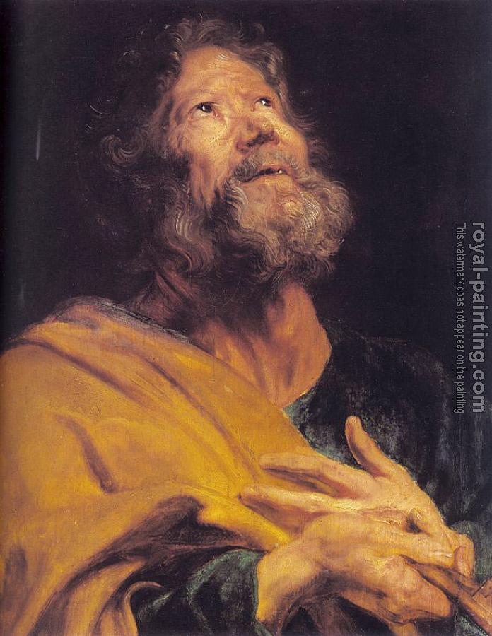 Anthony Van Dyck : The Penitent Apostle Peter