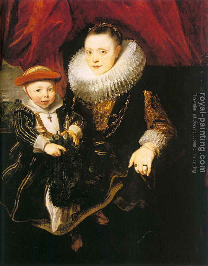 Anthony Van Dyck : Young Woman with a Child II