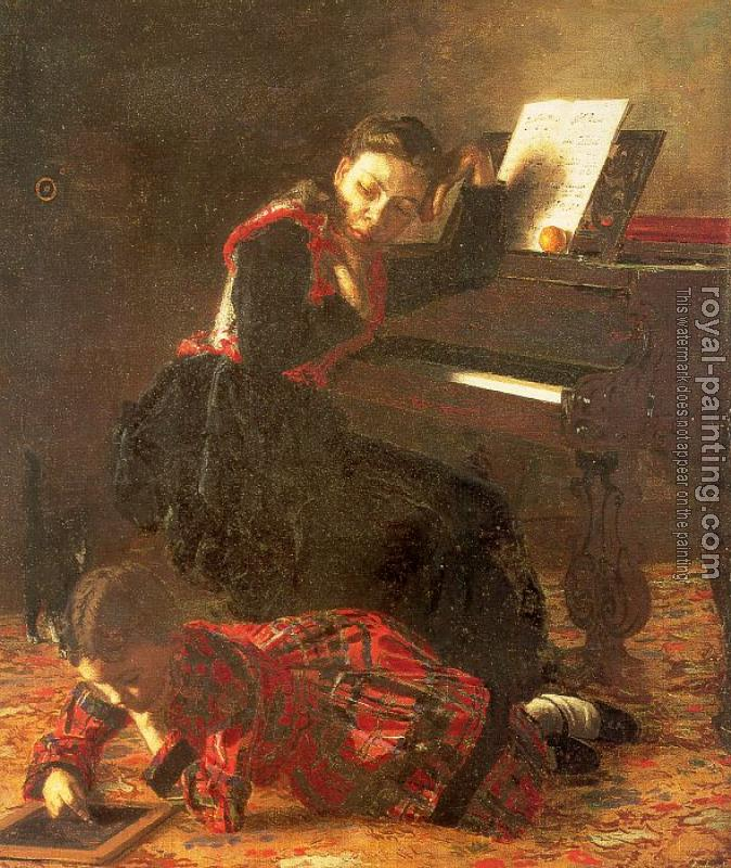 Thomas Eakins : Home Scene (The Sisters of the Artist)