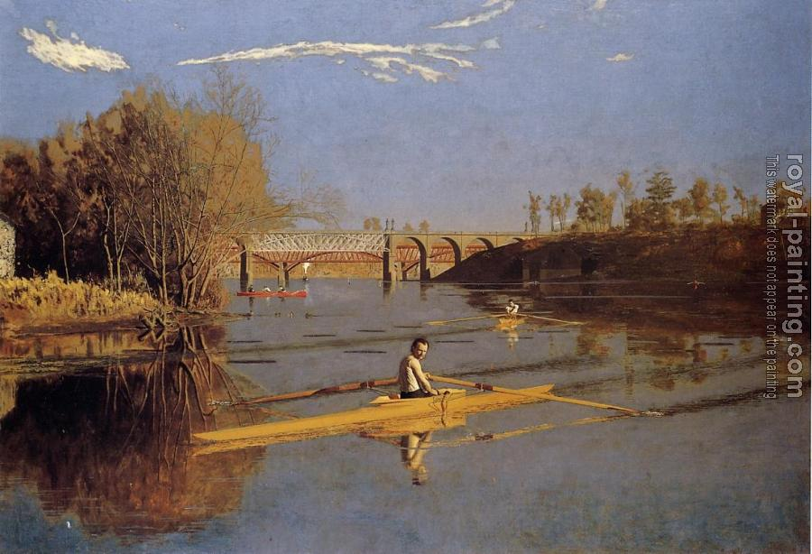 Thomas Eakins : Max Schmitt in a Single Scull
