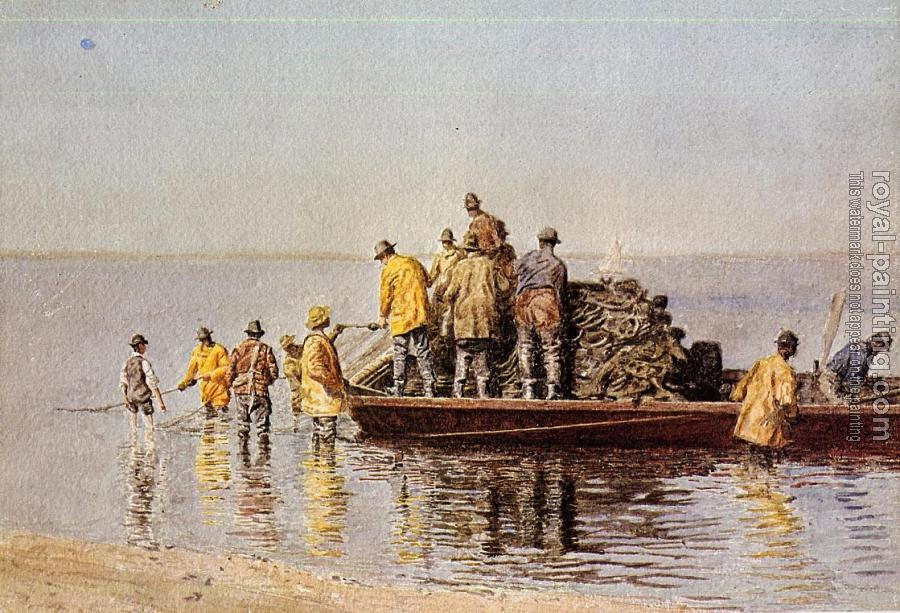 Thomas Eakins : Taking up the Net