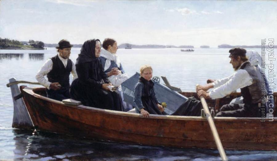 Albert Edelfelt : A Child's Funeral