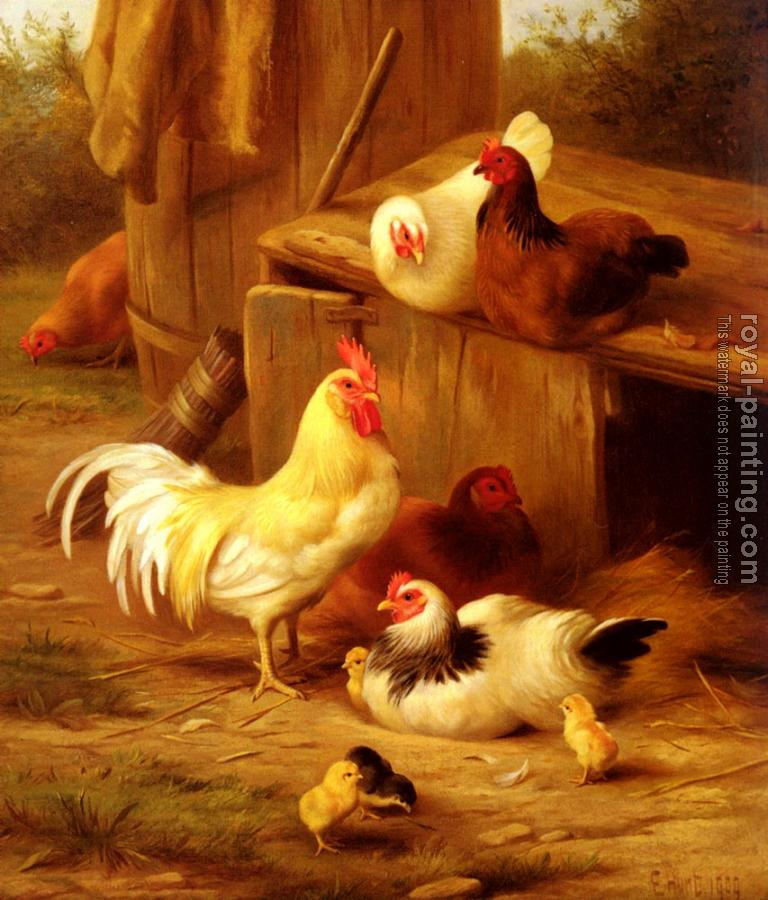Edgar Hunt : Chickens And Chicks