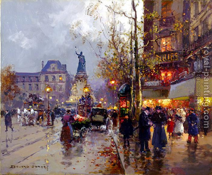 Edouard Cortes : Place de la Republique