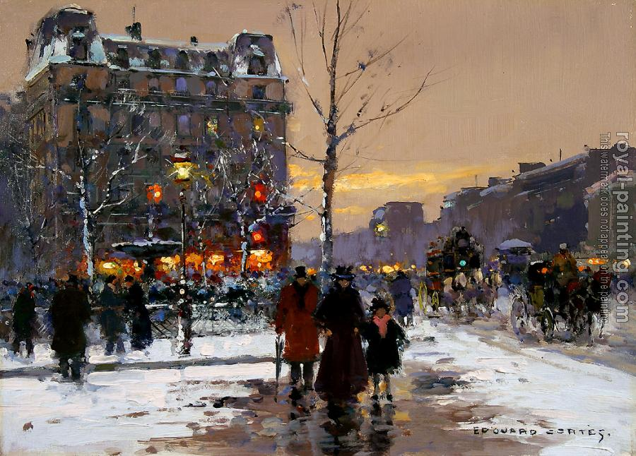 Edouard Cortes : Place Pigalle, Winter