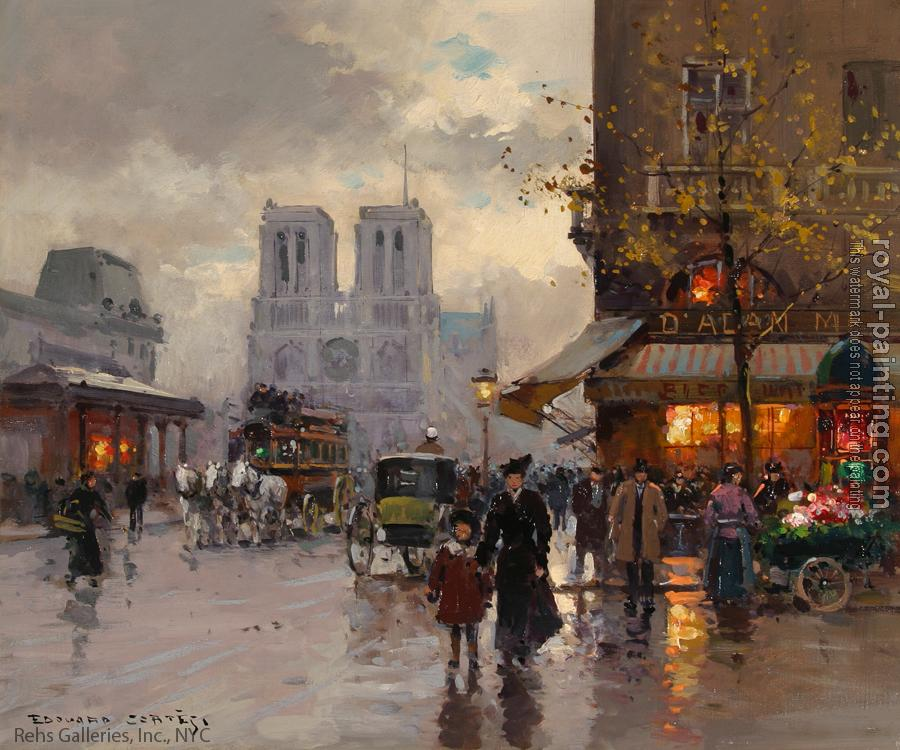 Edouard Cortes : Place St Michel, Notre Dame III
