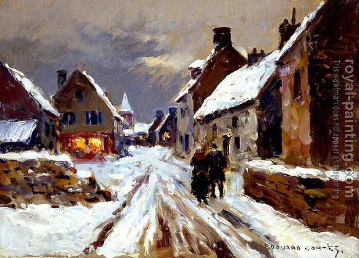 Edouard Cortes : Winter Evening