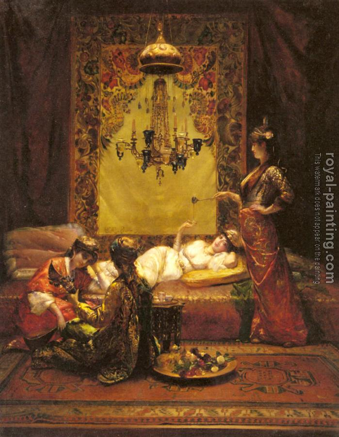 Edouard Frederic Wilhelm Richter : In The Harem