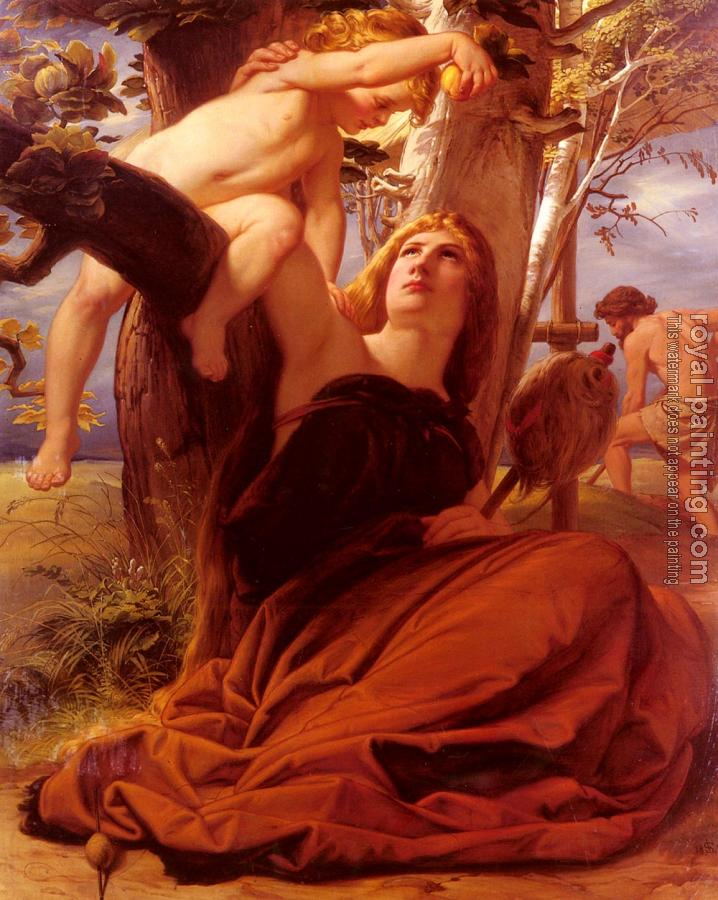 Edward Jakob Von Steinle : Adam And Eve After The Fall