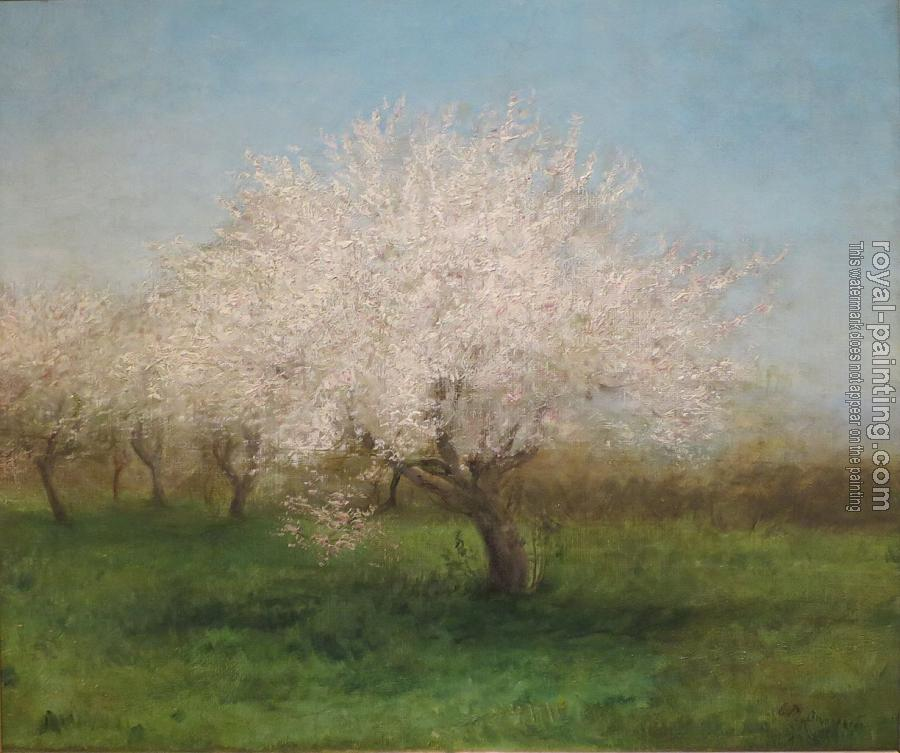 Edward Mitchell Bannister : Apple trees in a meadow