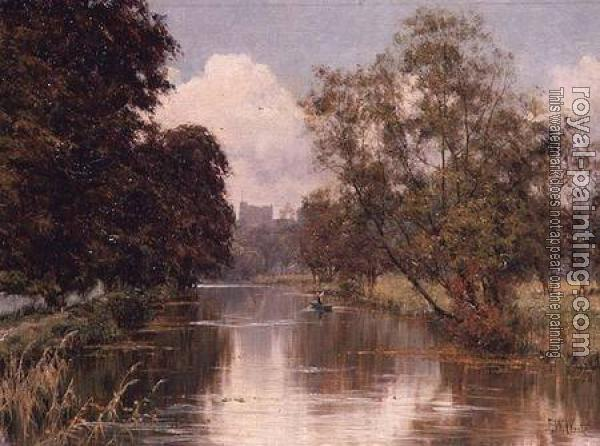 Edward Wilkins Waite : guildford castle river cather