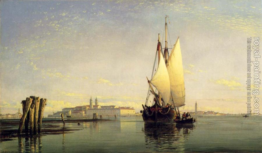 Edward William Cooke : On The Lagoon Of Venice