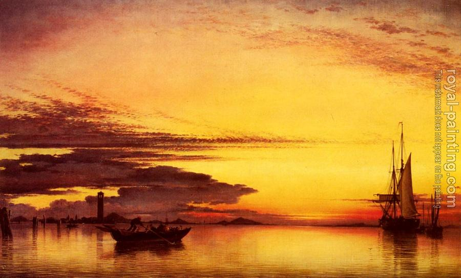 Edward William Cooke : Sunset On The Lagune Of Venice