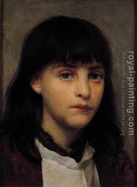 Edwin Harris : Portrait of a Young Girl