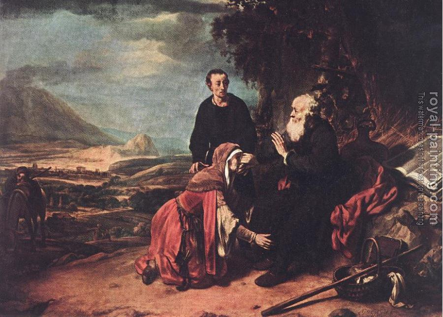 Gerbrand Van Den Eeckhout : Prophet Eliseus and the Woman of Sunem