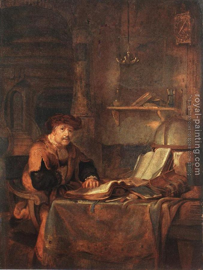 Gerbrand Van Den Eeckhout : Scholar with his Books