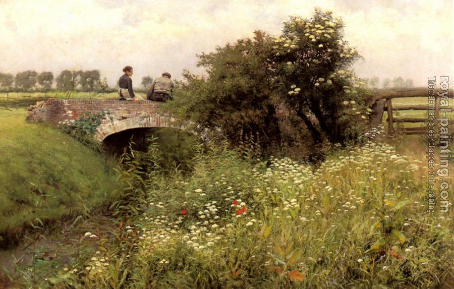Emile Claus : A Meeting on the Bridge