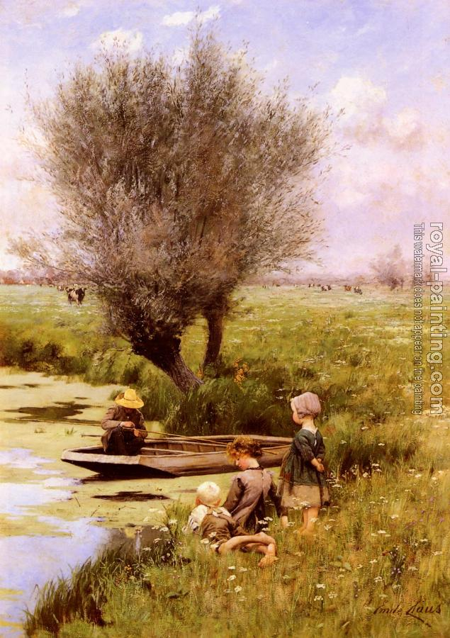 Emile Claus : Afternoon Along The River