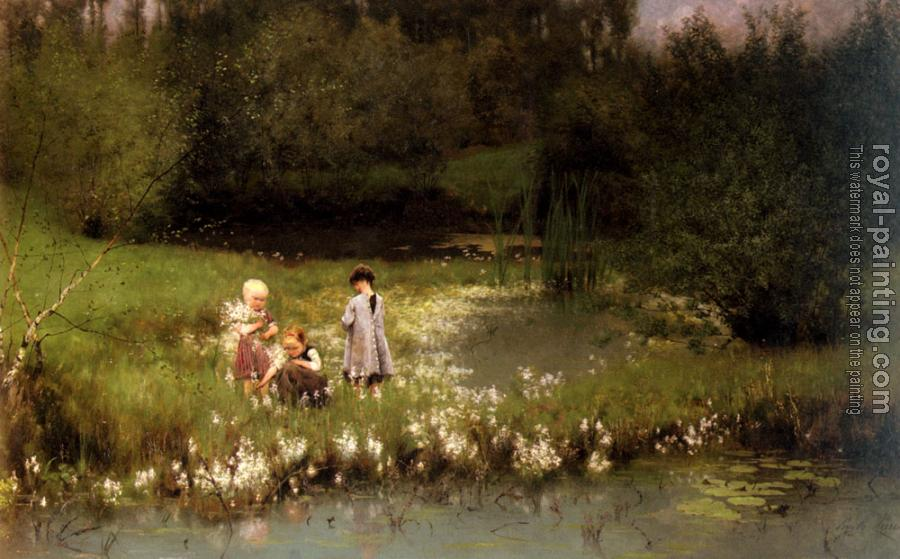 Emile Claus : Picking Blossoms
