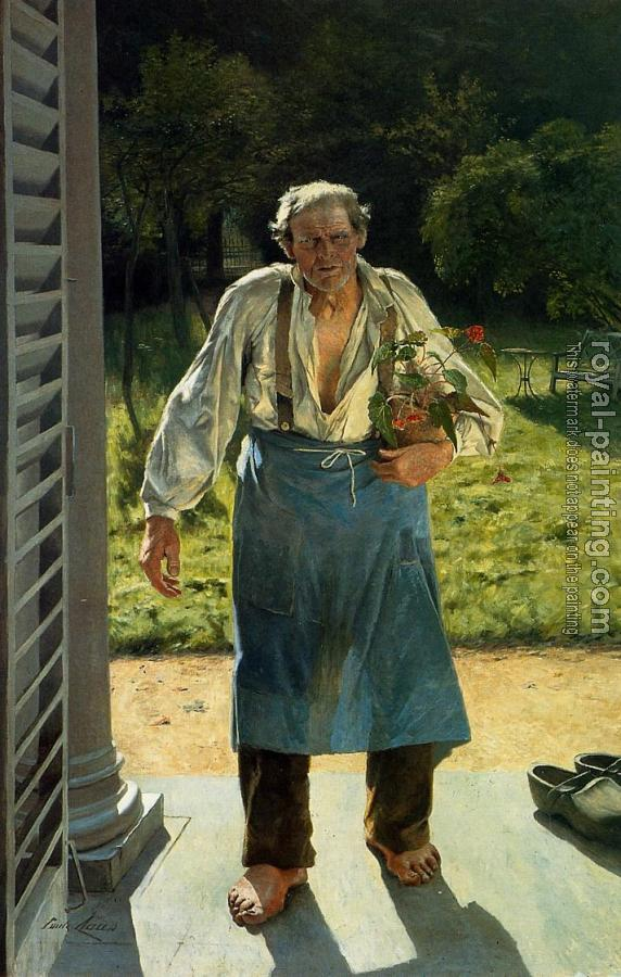Emile Claus : The Old Gardener