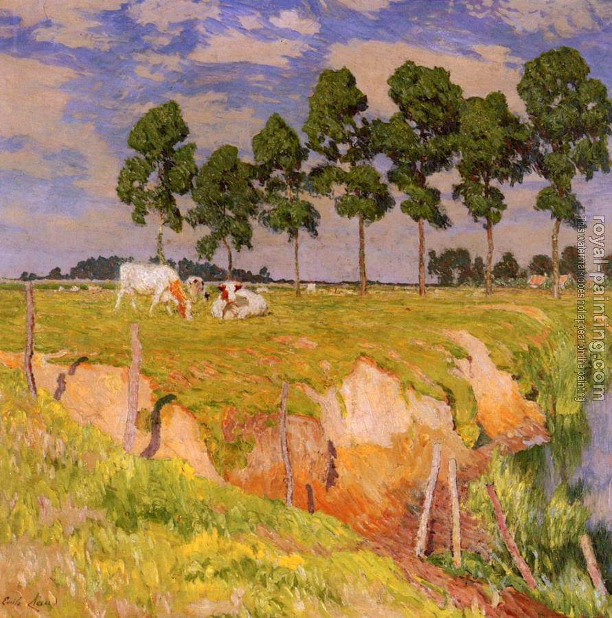 Emile Claus : The Receding Bank, July