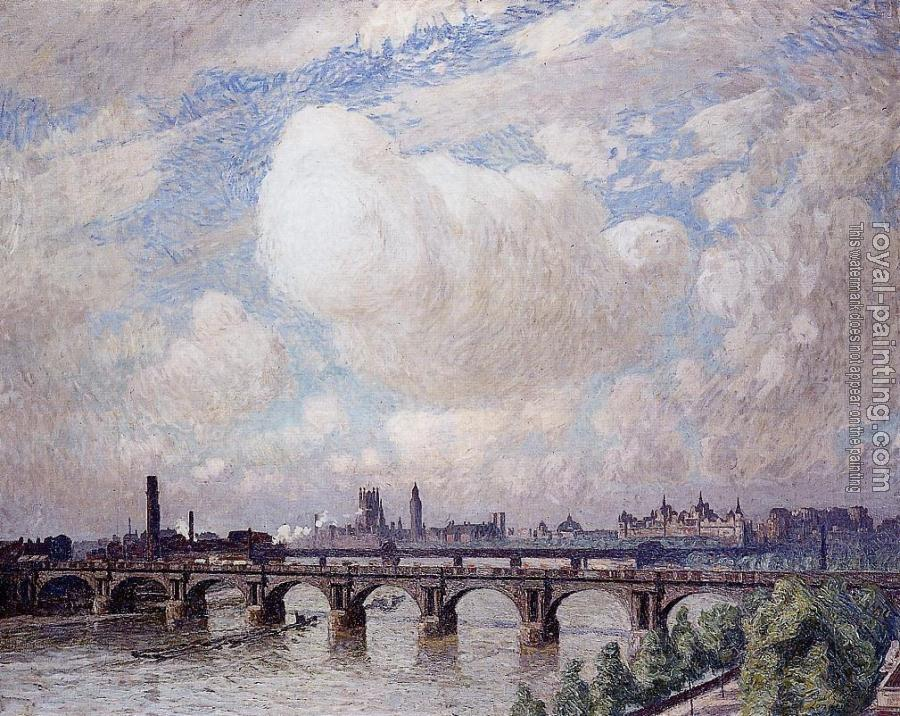 Emile Claus : Waterloo Bridge in the Sun