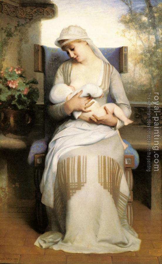Emile Levy : Young Mother Feeding Her Baby