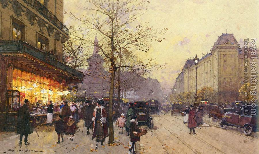 Eugene Galien-Laloue : PLACE DE LA REPUBLIQUE PARIS