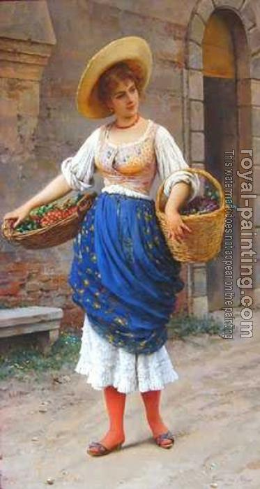 Eugene De Blaas : The Fruit Seller