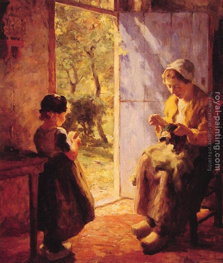 Evert Pieters : The Sewing Lesson