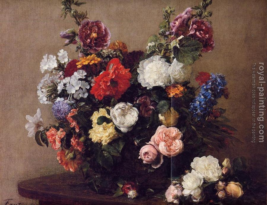 Henri Fantin-Latour : Bouquet of Diverse Flowers