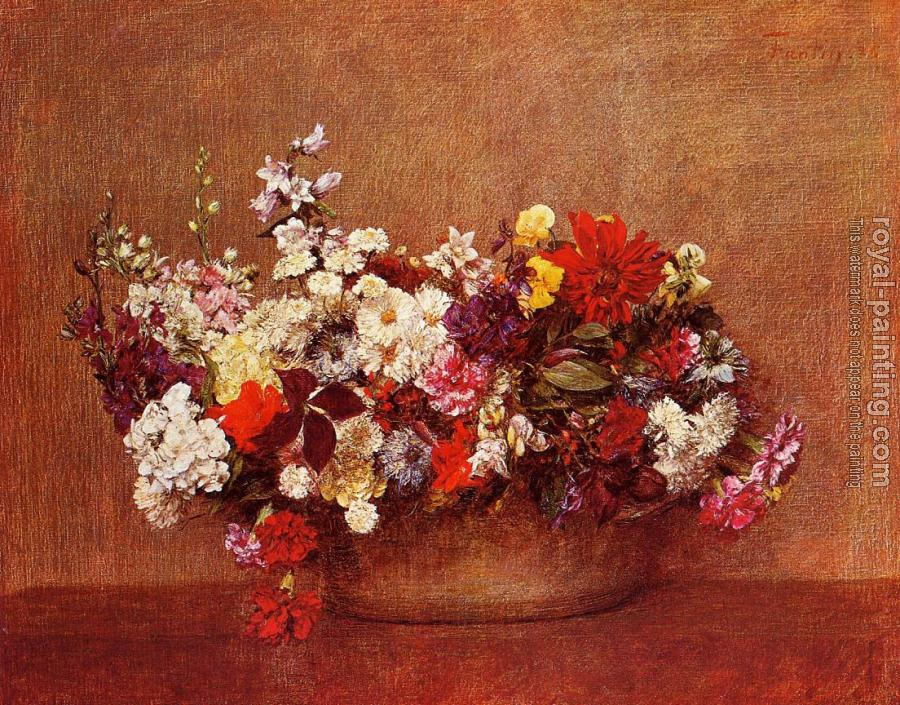 Henri Fantin-Latour : Flowers in a Bowl