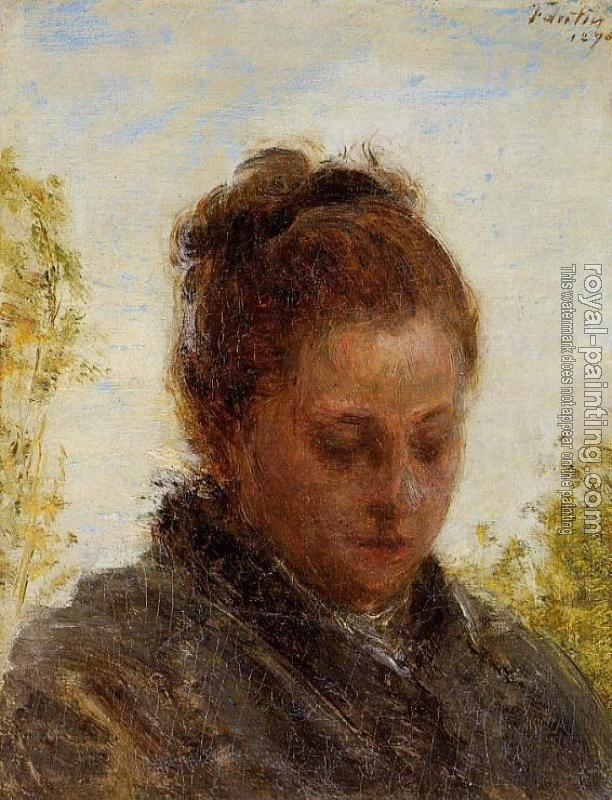 Henri Fantin-Latour : Head of a Young Woman