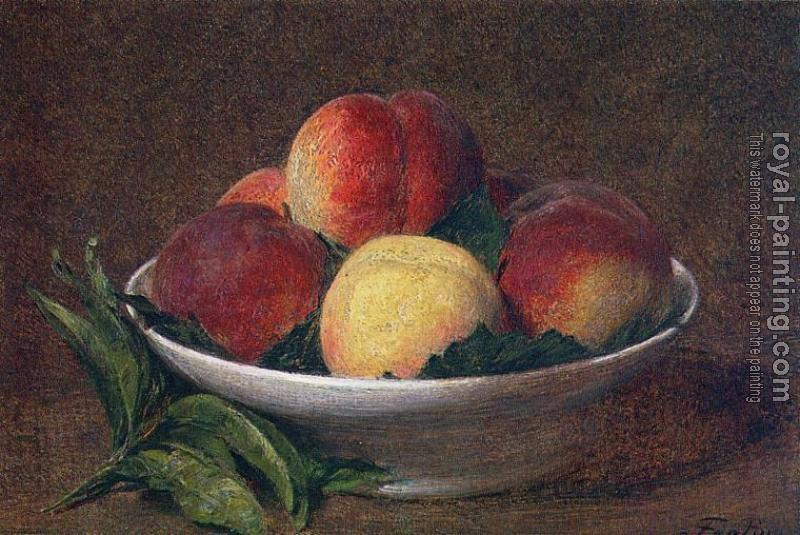 Henri Fantin-Latour : Peaches in a Bowl