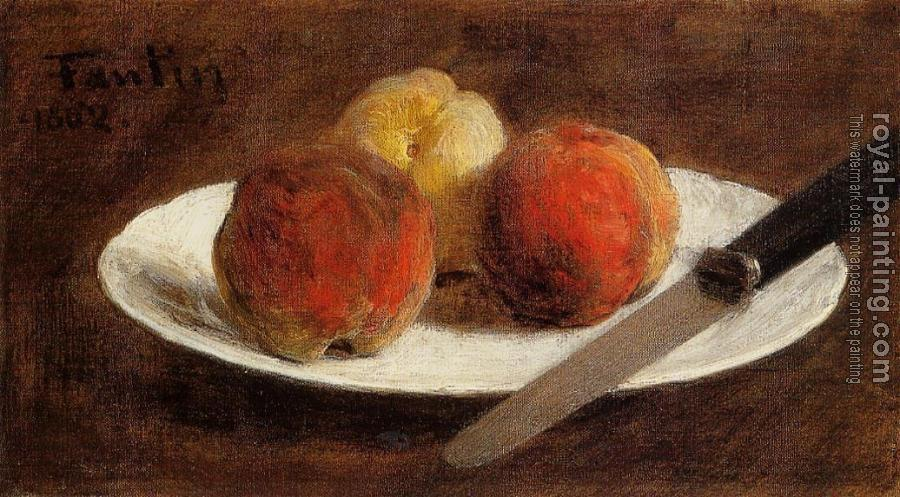 Henri Fantin-Latour : Plate of Peaches II