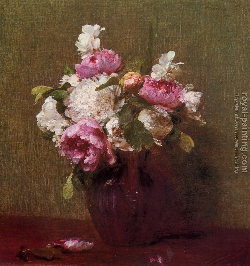 Henri Fantin-Latour : White Peonies and Roses, Narcissus