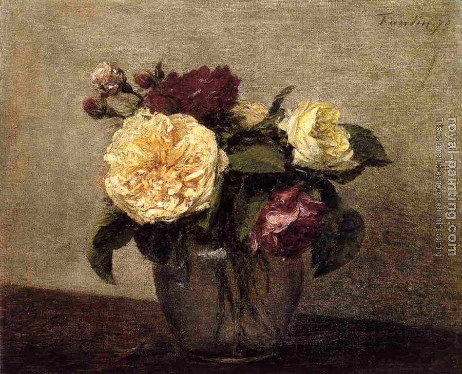 Henri Fantin-Latour : Yellow and Red Roses