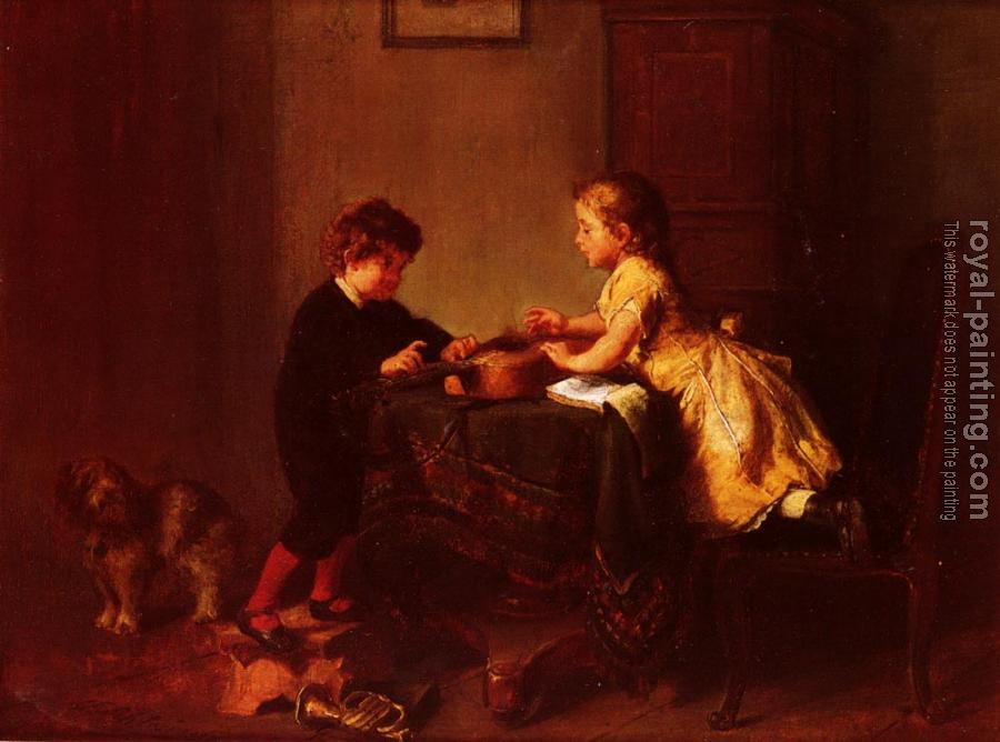 Felix Schlesinger : Children Playing With A Guitar