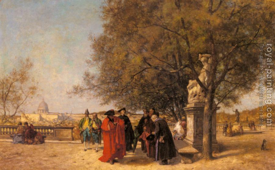 Ferdinand Heilbuth : The Greeting In The Park