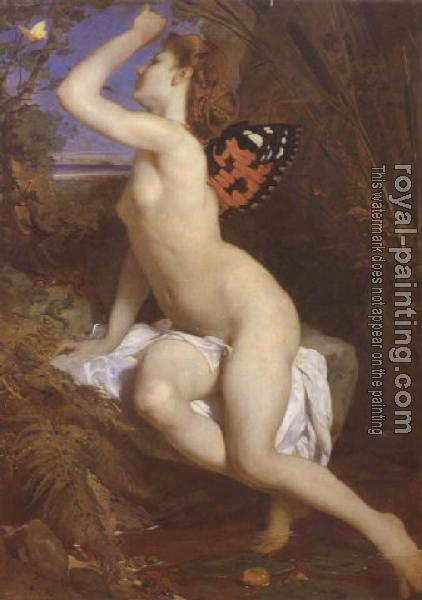 Ferdinand Keller : The beauty and butterfly