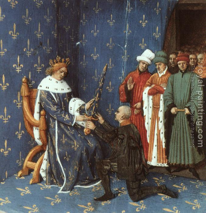 Jean Fouquet : Bertrand with the Sword of the Constable of France