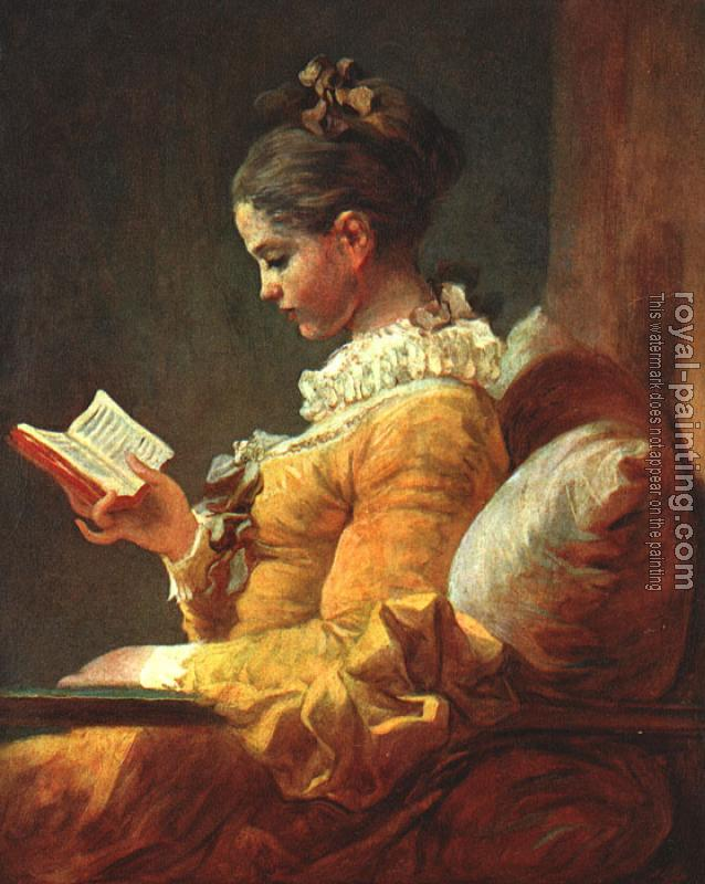 Jean-Honore Fragonard : A Young Girl Reading