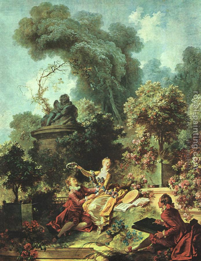 Jean-Honore Fragonard : The Lover Crowned