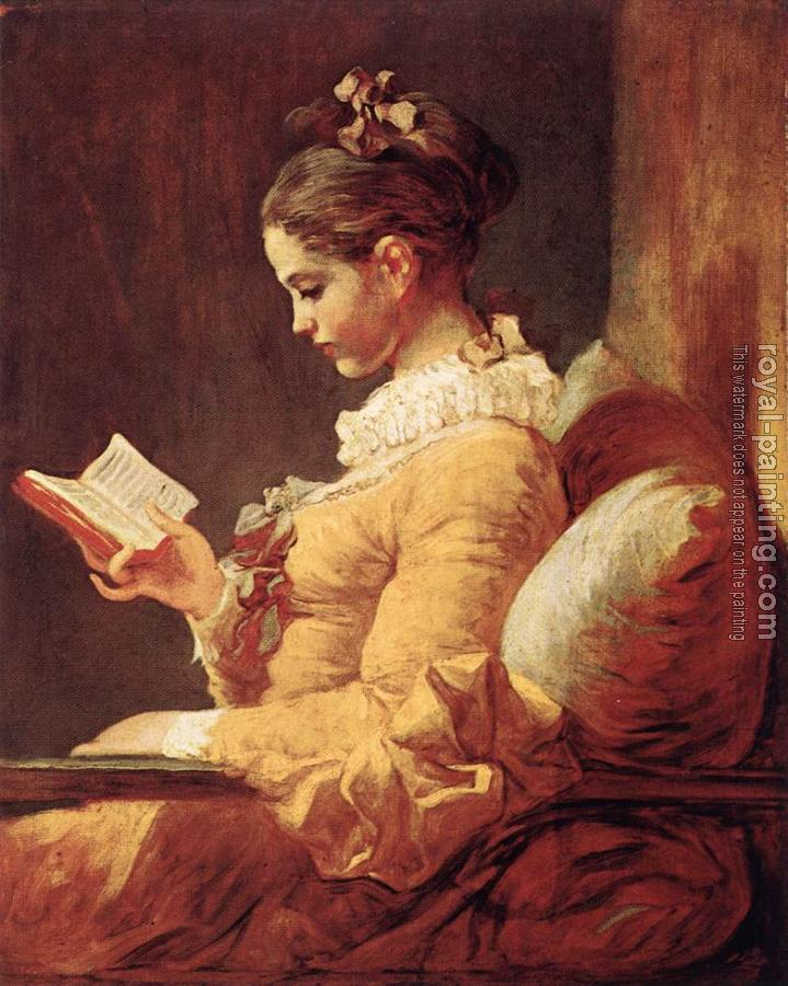 Jean-Honore Fragonard : A Young Girl Reading II