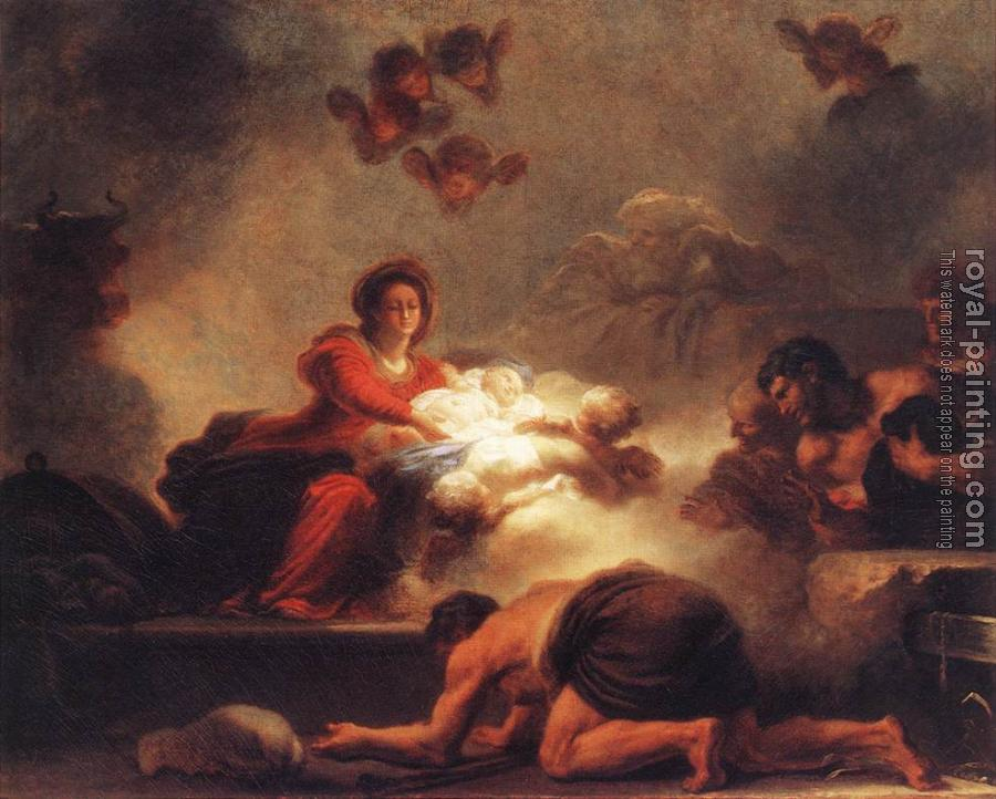 Jean-Honore Fragonard : Adoration of the Shepherds