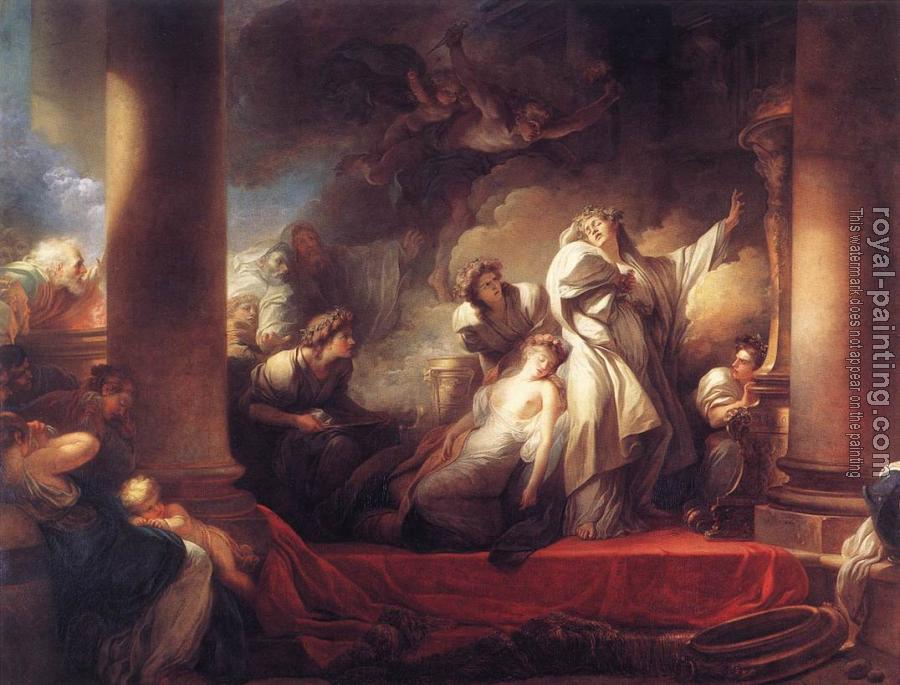 Jean-Honore Fragonard : Coresus Sacrificing himselt to Save Callirhoe