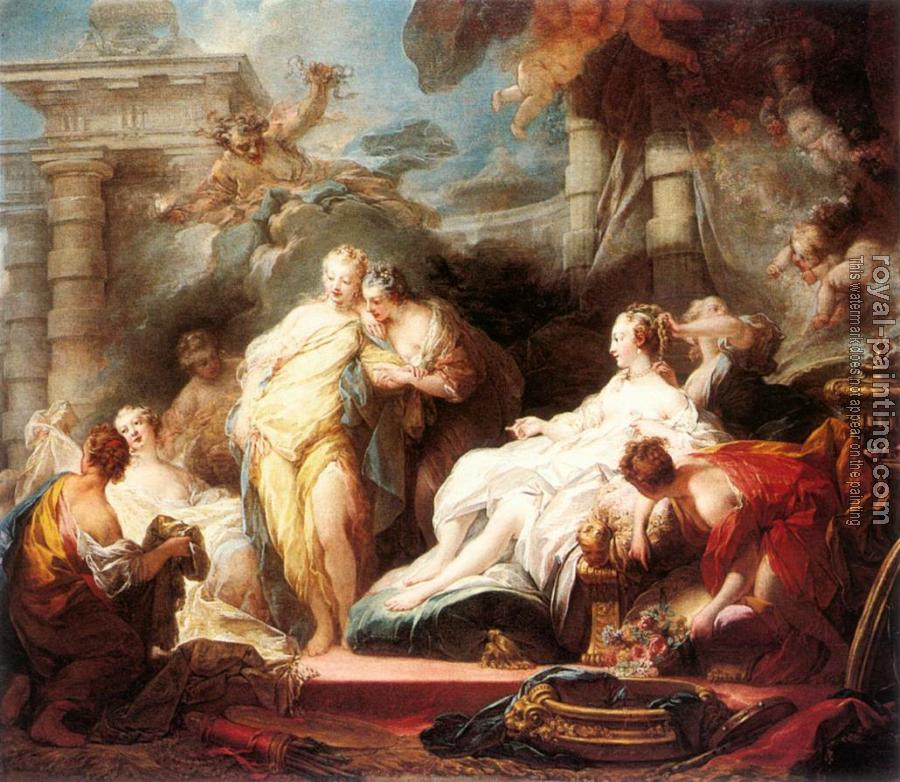 Jean-Honore Fragonard : Psyche showing her Sisters her Gifts from Cupid