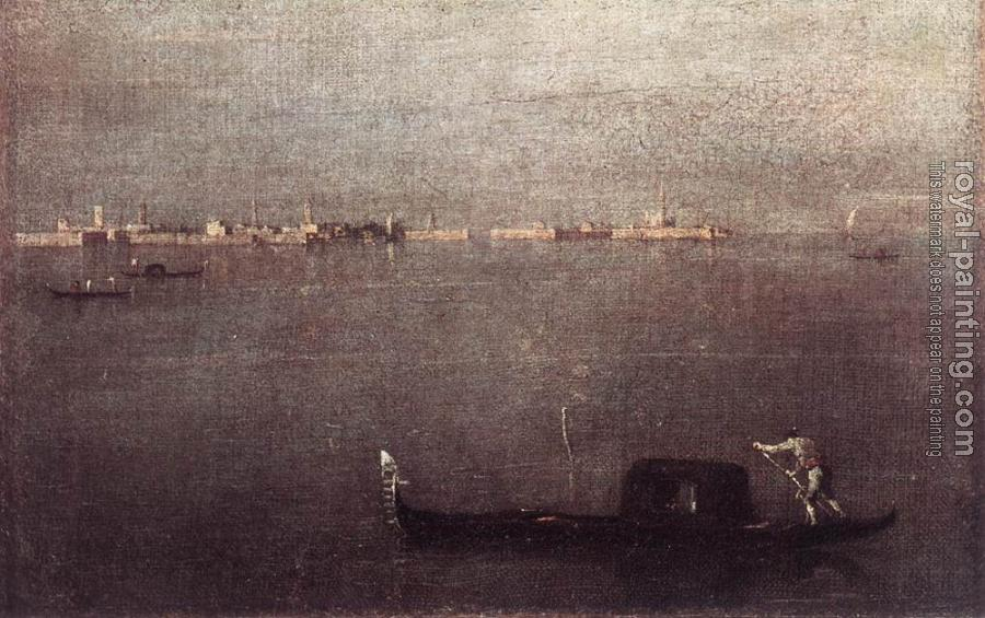 Francesco Guardi : Gondola in the Lagoon